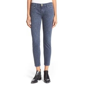 Current/Elliott Stiletto Crop Leopard Skinny Jean